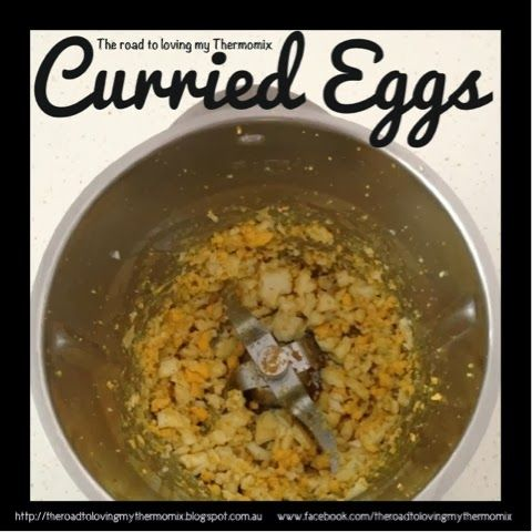 The road to loving my Thermomix: Curried Eggs
