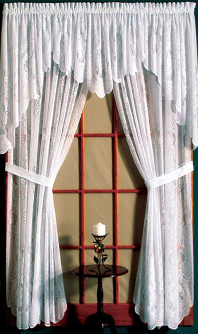 55 best images about lace curtains ready made valances for Old world curtains and drapes