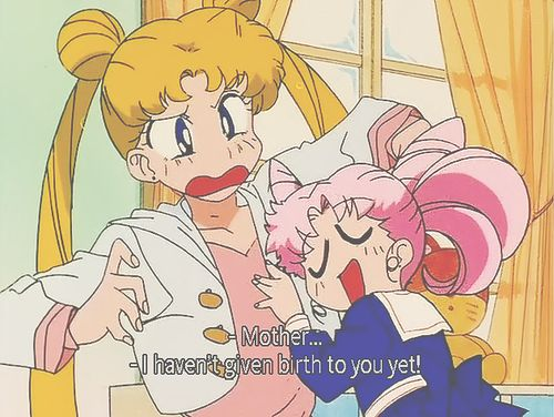 chibiusa and usagi.