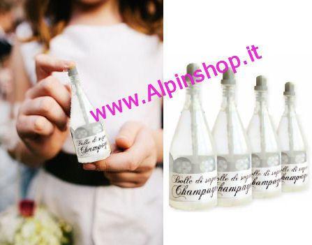 24 Bolle sapone Bottiglia Champagne Segnaposto Matrimoni Wedding Festa Capodanno