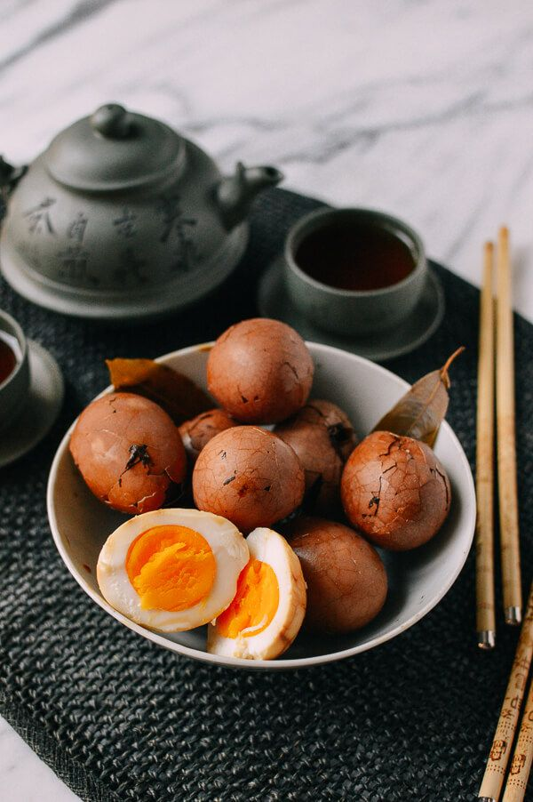 This recipe for Chinese tea eggs yields not just a flavorful egg (from lots of spices, soy sauce, and rice wine), but also a soft yolk!