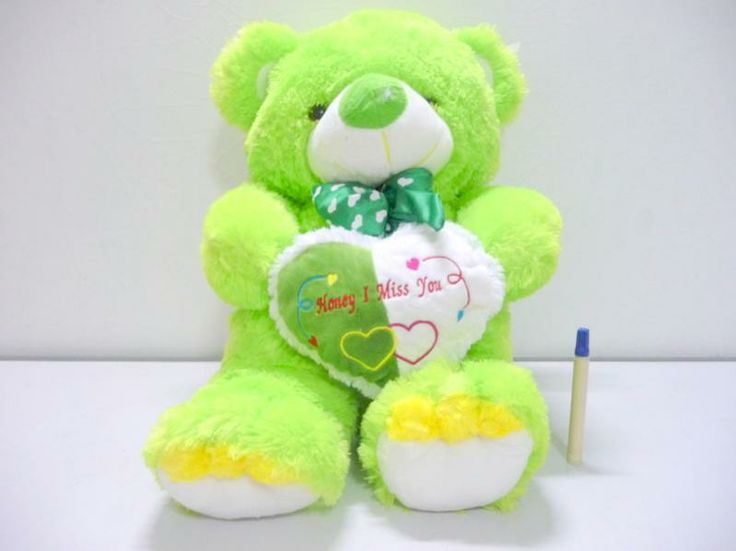 JUAL Boneka Beruang Jumbo Hijau| Green Teddy Bear with Love - Ceriwis ...