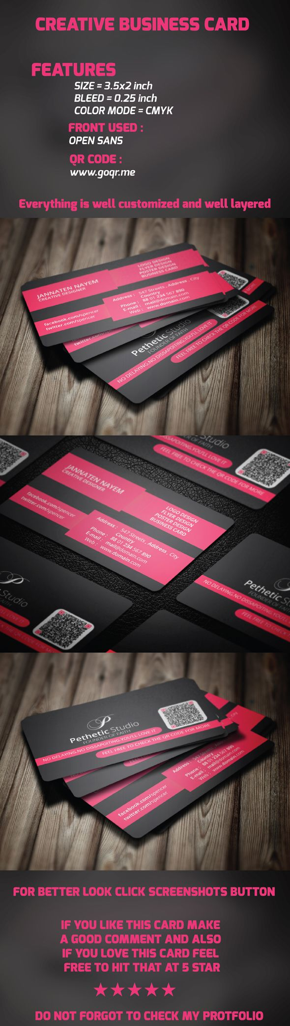 7 best business cards template images on pinterest business card