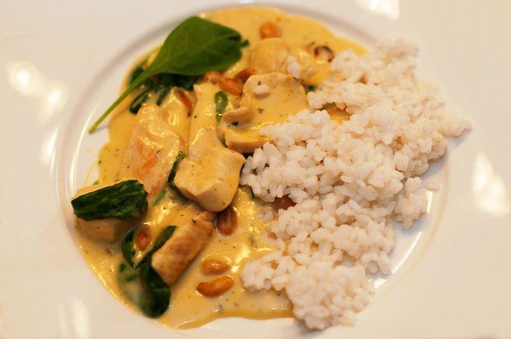 Spinat-Curry-Geschnetzeltes