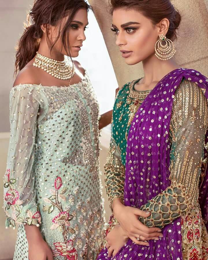 Desi Wedding Wear Outfits Pakistani Dresses Beautiful Party Suits Punjabi