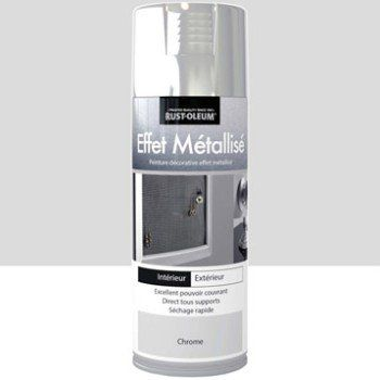 Peinture aérosol Effet metallisé métallisé RUSTOLEUM, chrome, 0.4 l   Leroy Merlin