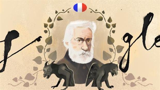 Víctor Hugo y Los Miserables, en un homenaje de Google