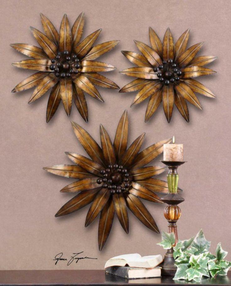 Golden Gazanias, S 3 : SKU 5PU1 | Garbeu0027s This Decorative Wall Art Is Made  · Home Decor AccessoriesDecorative ...
