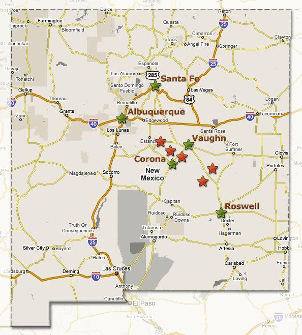New Mexico Travel Map Southwest Usamexico