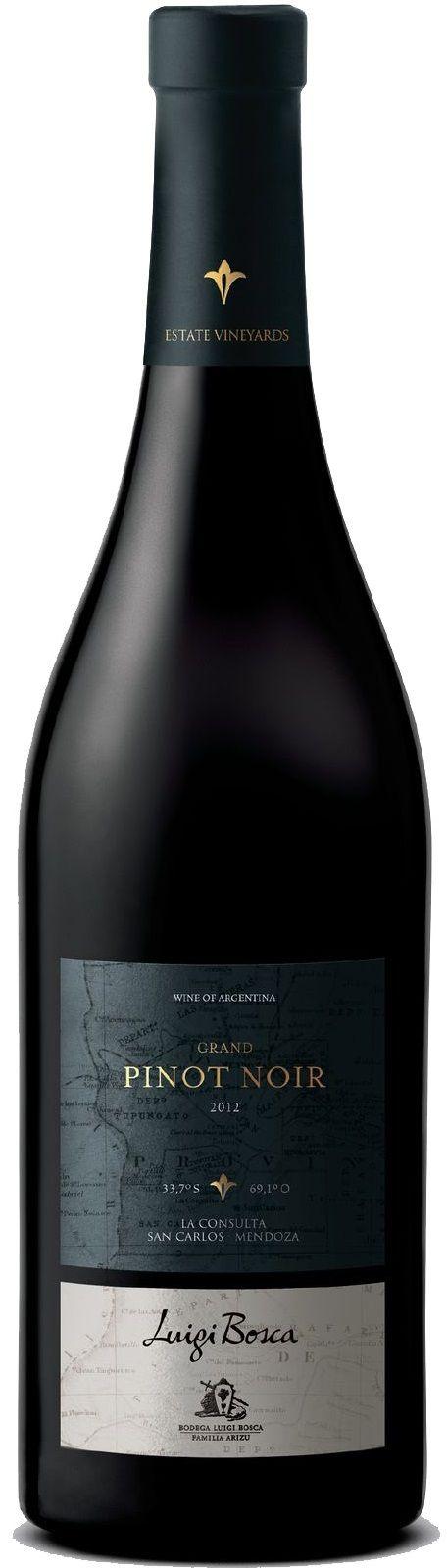 """""""Luigi Bosca Grand Pinot Noir"""" 2012 / 2013 / 2014 - Bodega Luigi Bosca, Luján de Cuyo, Mendoza---------- Terroir: La Consulta (San Carlos) - Mendoza------------------------------ Crianza: El 50% del vino se cría de 6 a 8 meses en barricas de segundo uso"""