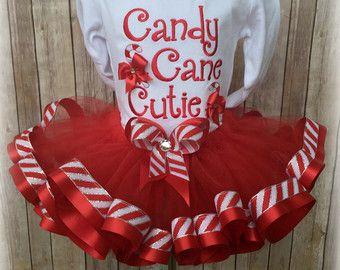 Items similar to Ruffled Candy Cane Christmas Outfit, Christmas Outfit, Christmas Outfits for Girls, Toddler Christmas Shirt, Girl Christmas Shirt on Etsy