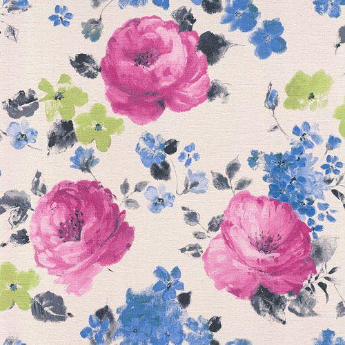 Klassiska engelska rosor från kollektionen Havanna 448825. Klicka för att se fler inspirerande tapeter för ditt hem!