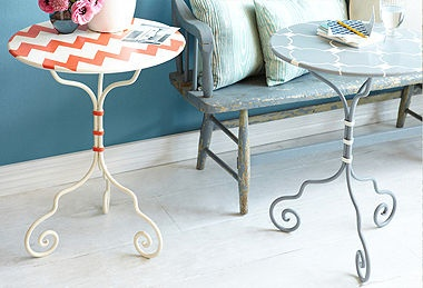 these little handpainted tables on OKL today are adorable: Garage Sales