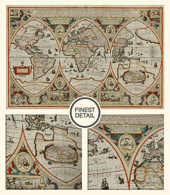 Best Large World Map Poster Ideas On Pinterestno Signup - Faded poster maps for sale us