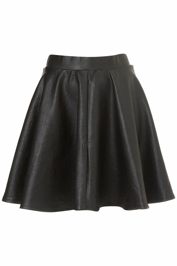 High Waisted Skater Skirt Black | Fashion Skirts