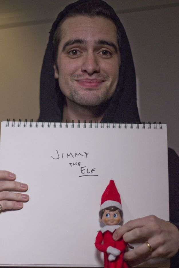 Brendon Urie of Panic! At The Disco kept it simple.   We Gave Musicians An Elf On The Shelf And Here's What Happened