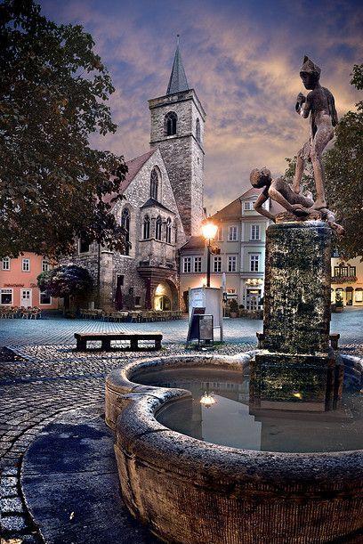 Fountain in Erfurt - Germany