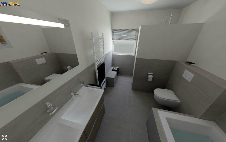 29 beste afbeeldingen van badkamers amsterdam - Betegelde badkamer ontwerp ...
