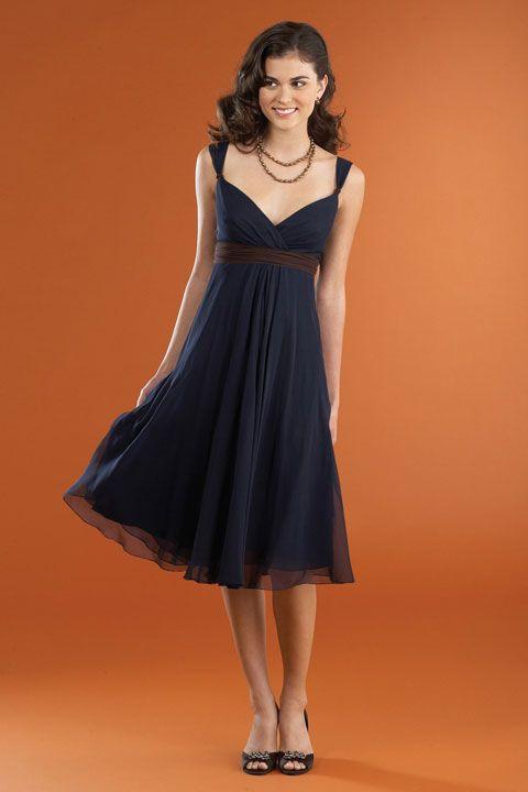 Bridesmaids dress…. black w/ colored belt