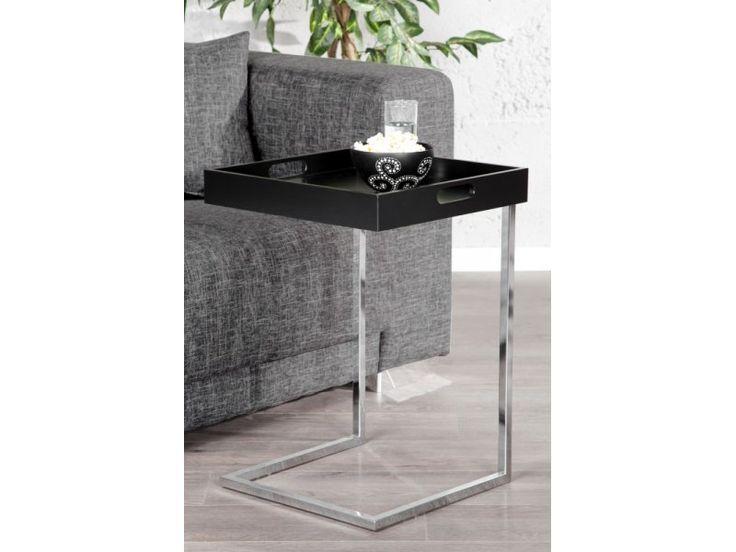Zamów IiNTERIOR Ciano Stolik Kawowy Czarny 58x40x40 cm bezpiecznie przez Internet w sklepie intenetowym machina-meble.pl