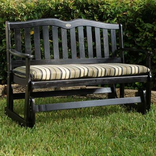 Outdoor Glider as well  on jordan mfg co black palms 4ft porch glider