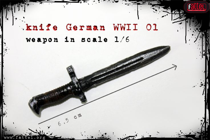 onesixthscale action figure knife german wwii