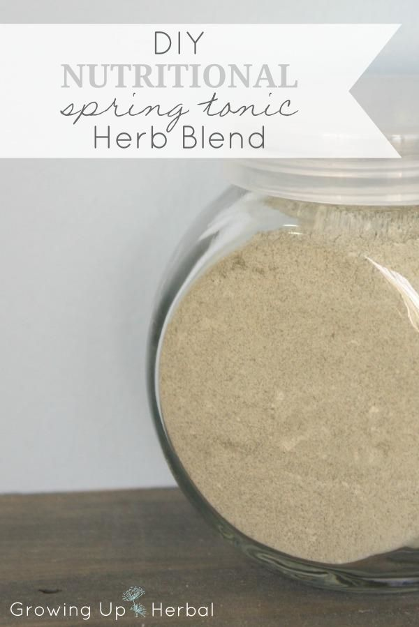 Herbal Multi-Vitamins: Nutritional Spring Tonic Herb Blend | GrowingUpHerbal.com - learn to nourish your child with these spring tonic herbs instead of a daily multi