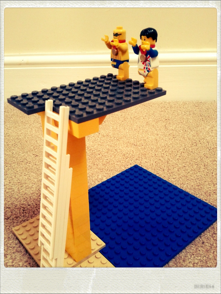 Lego Day 11 - Tom Daley and Pete Waterfield, GB 10m Divers