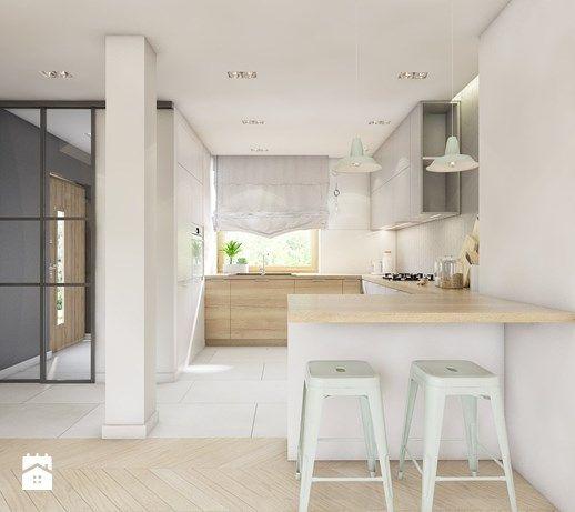 (Dąbrowa Górnicza) Dom jednorodzinny 15 - Kuchnia, styl skandynawski - zdjęcie od BAGUA Pracownia Architektury Wnętrz