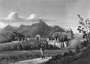 Quinta da Boa Vista rond 1820. De poort op het plaatje is nu de ingang van de dierentuin van Rio
