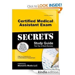 13 best certified medical assistant cma images on pinterest certified medical assistant exam secrets study guide cma test review for the certified medical assistant fandeluxe Gallery