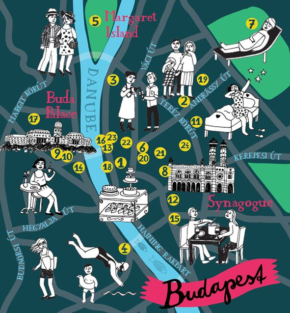 Bianca Tschaikner - Map of Budapest