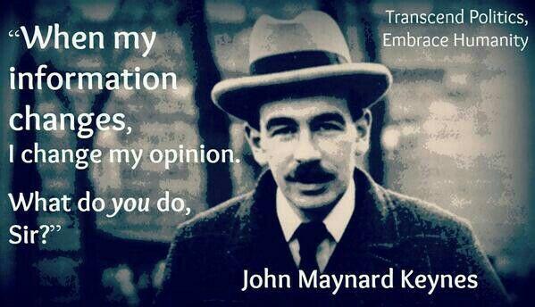 John Maynard Keynes' opinion