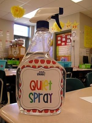 When all else fails, spray Quiet Spray into the air! | 27 Attention-Getters For Quieting A Noisy Classroom