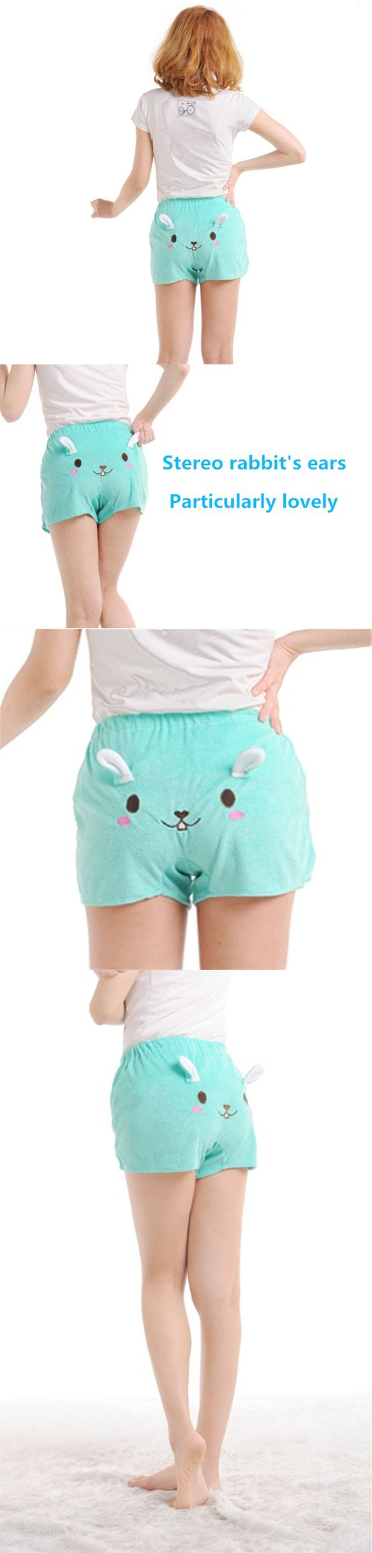 Super Cute Kawaii Women's Pyjamas Shorts New Cartoon Nightwear Loungewear Hot Pants