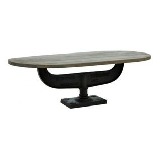 Oval Industrial Coffee Table - CDI. 55w x 27d x 17h. Available for order at Warehouse 74.