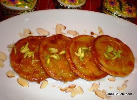 Delicious Indian Sweet Malpua- Malpua is a sugar soaked pancake made with thickened milk.