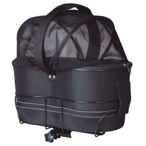 a trixie cesta de perro bicicleta 29x42x48cm negra canasto transportin portador