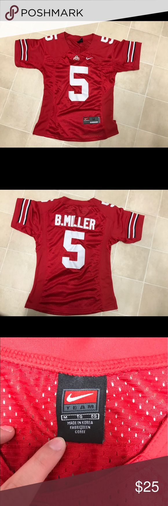 Ohio State Jersey Nike Ohio State Jersey for women. Size medium! Nike Tops