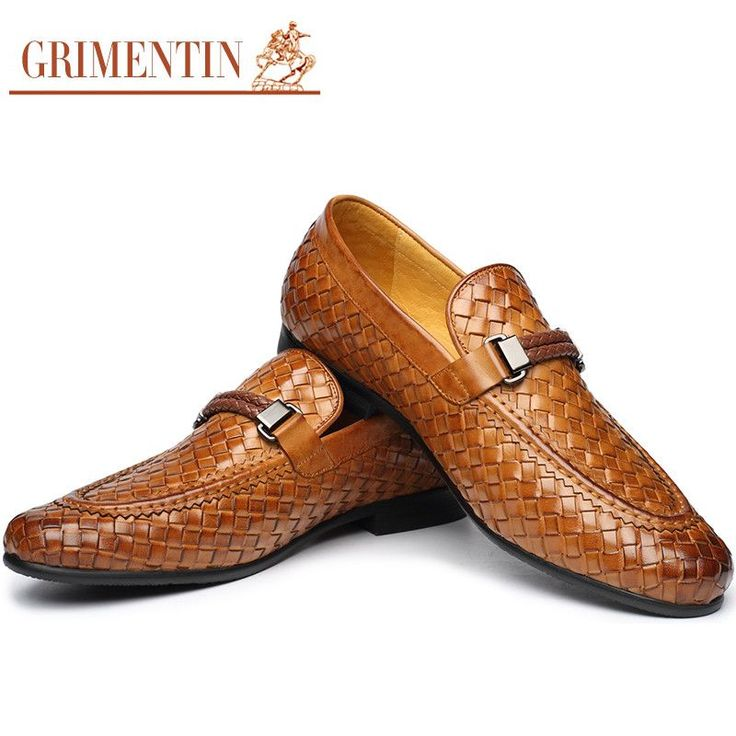 GRIMENTIN Brand fashion braided mens loafers genuine leather brown black men casual shoes flats  #love #money #belts #fashionweek #style #wallets #sexyshoes #followme #sunshades #bags #wedding #sale #mensfashion #accessories #gloves