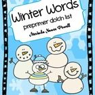 """Your students will think these Winter Word Cards are the """"COOLEST."""" They focus on the preprimer dolch sight word list. Great high frequency word ..."""