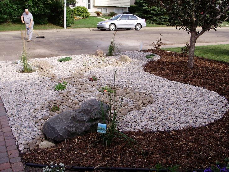 Front yard mature yard renovation xeriscaped gardens for Xeriscaped backyard design