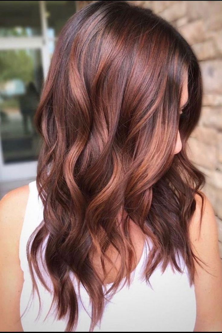 Rotbraune Haare | Haarfarben, Balayage, Rötliche haare