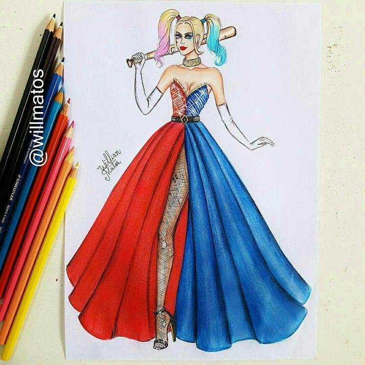 Cool drawing Harley Quinn
