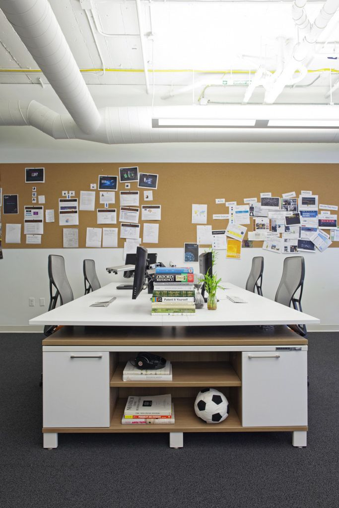 Casual, compact workstations for easy collaboration + communication.  Creates team dynamic.  What I like most about SERAwest.