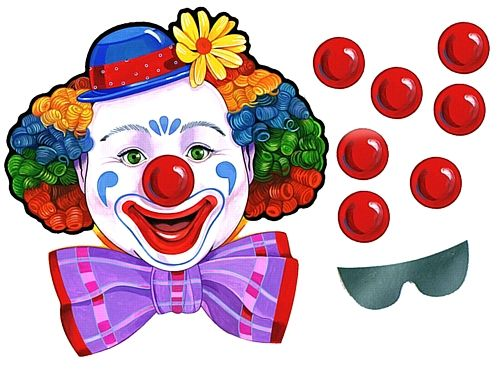 pin+the+nose+on+the+clown | You are here : Home > Pin the Nose on the Clown Game