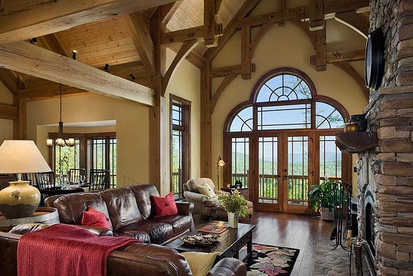 cattail lodge timber frame home greatroom by riverbend timber framing via flickr timber frame homes pinterest nice home and colors