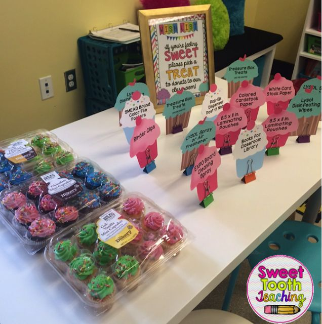 FREEBIE-Cupcake Wish List- Open House/ Meet the Teacher Night