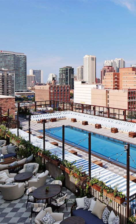 Vintage-chic, hip-kid club hotel with serious food-and-drink cred in a retrofitted factory in the West Loop.