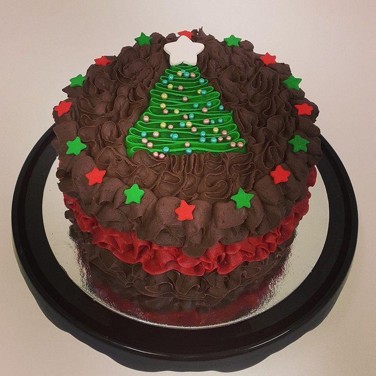 Squiggle Christmas Tree Cake